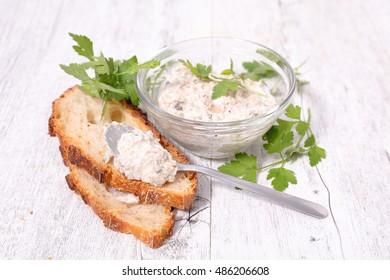 fish spread and bread