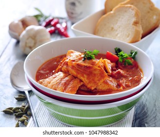 Fish stew with tomato.