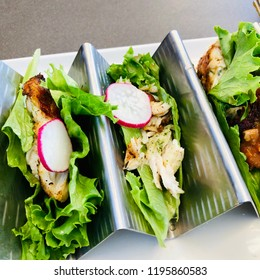 Fish Taco Lettuce Wraps with Slaw and Guacamole Healthy Meal