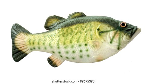 fish toy isolated on the white background