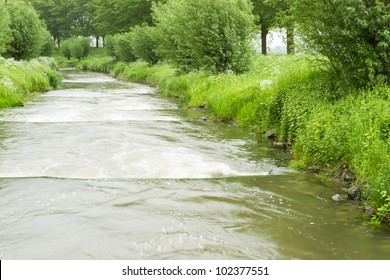 A fish way to enable fish like salmon  to swim upstream