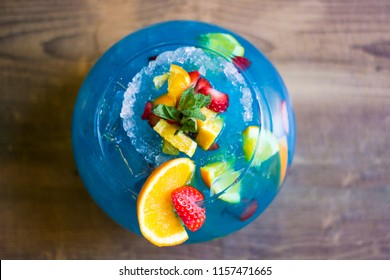 Fishbowls blue drink