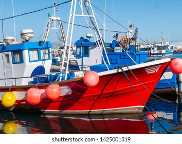 Fisher boats in the spanish port of Tarifa near to the straits of Gibraltar
