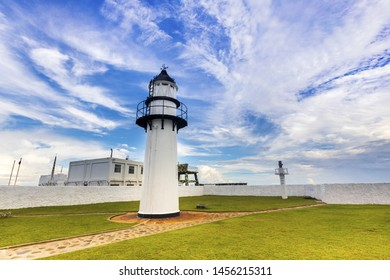 Fisher Island Lighthouse against sky;Fisher Island;Penghu;Taiwan