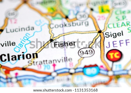 Pa Usa Map.Fisher Pennsylvania Usa On Map Stock Photo Edit Now 1131353168