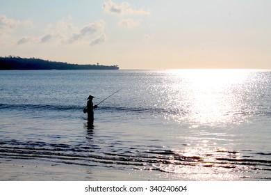 Fisherman in Bali, Indonesia