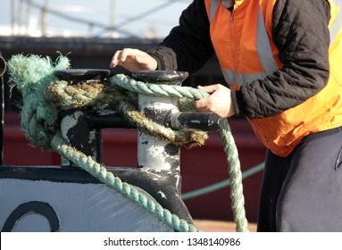 Fisherman at boat