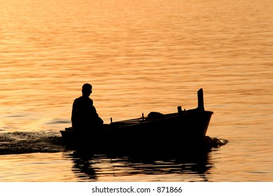 Fisherman in a boat