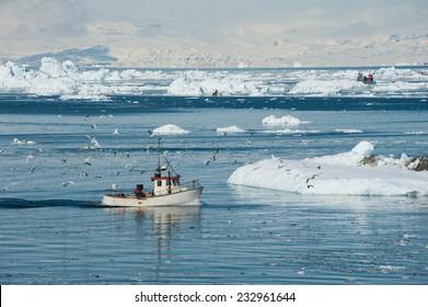Fisherman boat, Greenland