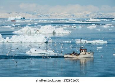 Fisherman boat, Ilulissat, Greenland