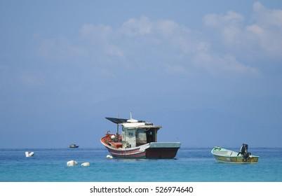 Fisherman boat at Perhentian Island, Terengganu, Malaysia.