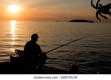 A fisherman enjoying his time off.