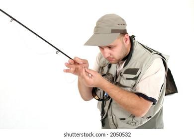 Fisherman, flyfishing