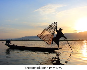 Fisherman in Inle Lake, Myanmar