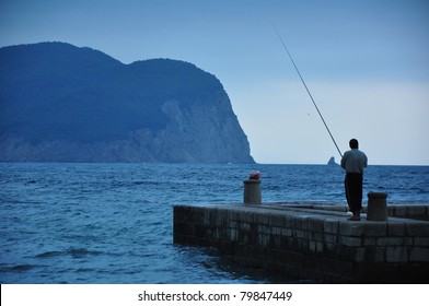 Fisherman in Petrovac, Montenegro