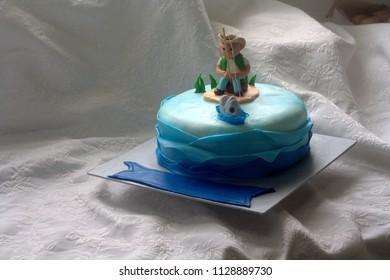 Fisherman theme cake