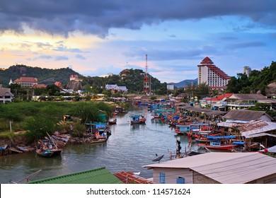 fisherman village Khao Takiab Hua Hin,Thailand