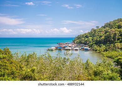 Fisherman village in Koh Kood island, Trat Thailand