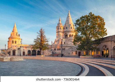 Fisherman's Bastion, Budapest. Image of the Fisherman's Bastion in Budapest, capital city of Hungary, during sunrise.