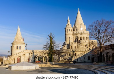 Fisherman's Bastion in Budapest is a popular tourist and architectural attraction, Hungary