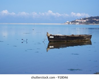 fisherman's Boat in portuguese lagoon