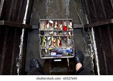 fisherman's box in the boat