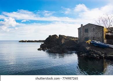 fisherman's cottage in a seaside village