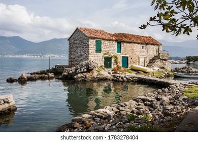 Fisherman's house in the beautiful little hamlet of Bjelila, on Boka Kotorska, Montenegro - Shutterstock ID 1783278404