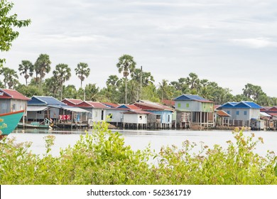 Fisherman's house in Kampot province, Cambodia.