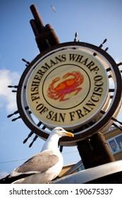 Fishermans Wharf Sign - San Francisco, California USA
