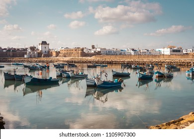 Fishermen boats in the harbour of Assilah, Morocco