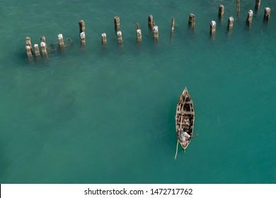 Fishermen busy in fishing at Rameshwaram, Tamilnadu, India