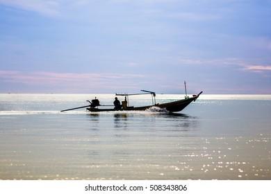 Fishermen go to sea ,Tahiland