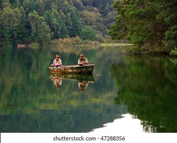 Fishermen on boat