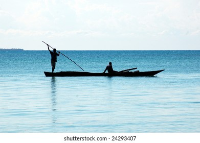 Fishermen on the way out at Indian Ocean