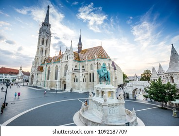 Fishermen's Bastion and Matthias Church in Budapest, Hungary