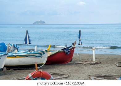 fishermen's boats in Liguria