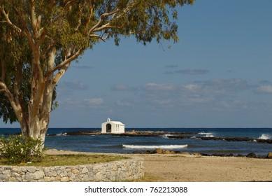 The fishermen's chapel dedicated to St Nicholas at Georgioupoli in Crete