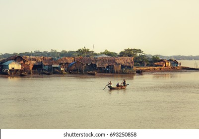 Fishermen's Village in the Sundarbans forest, September 10, 2016. A landscape view of the fishermen's village in the Sundarbans mangrove forest, one of the largest forests in the world.