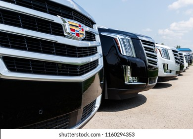 Fishers - Circa August 2018: Cadillac Automobile Dealership. Cadillac is the Luxury Division of General Motors I