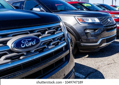 Fishers Circa March  Local Ford Car And Truck Dealership Ford Sells Products