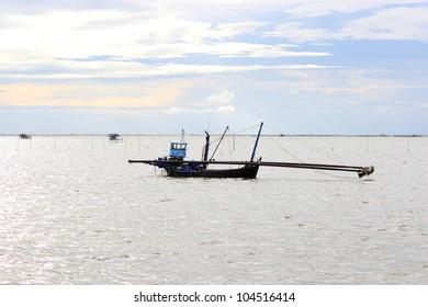 Fishery boat in Thai sea