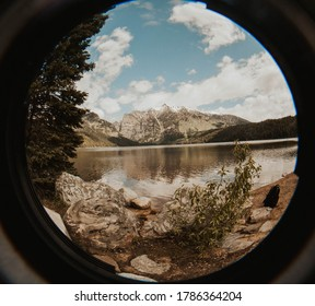 Fisheye photo in Grand Teton National Park.