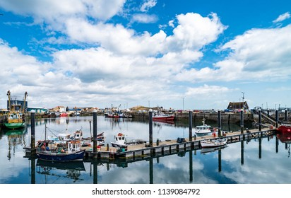 Fishign Boats Moored in Howth Harbor in Dublin County, Ireland