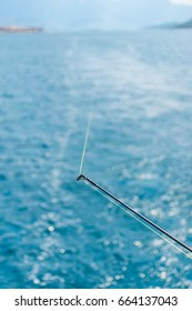 Fishing in the Adriatic Sea for spinning from the yacht.