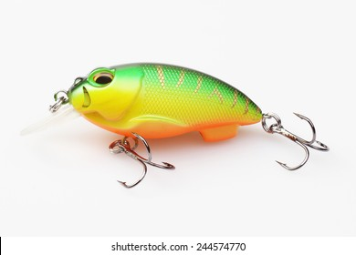 fishing bait on the white background