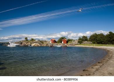 Fishing bay/harbor in sweden