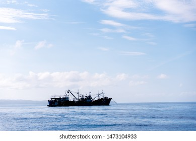 Fishing in the blue waters of Philippine Sea.