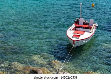 Fishing boat at the Aegean sea, Chalkidiki , Greece