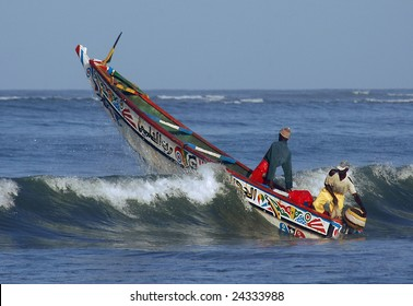 Fishing boat in Africa
